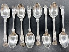 A silver set of teaspoons (Total Weight 312g) (See photos for hallmarks)