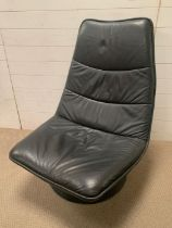 A Mid Century leather 1970's recliner easy chair