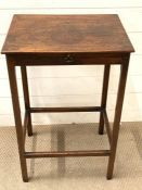 A mahogany square reading table (H74cm W48cm D37cm)