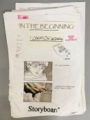 A Storyboard from the TV Mini series 'In the Beginning' from the collection of Keith Wilson