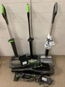 A selection of G-Tech cordless equipment, vacuums and leaf blowers