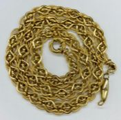 A 9ct (marked 375) gold necklace (Total Weight 24g)