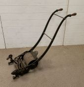 A vintage push lawn mower with roller by Ransoms'