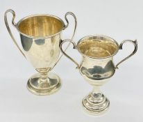 Two small hallmarked silver trophies (Total weight 90g)