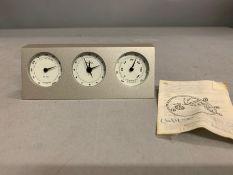 Barometer Desk Troka Scientific Weather Station Quartz Clock Temp Humidity Clock