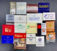 A small selection of various makers match boxes