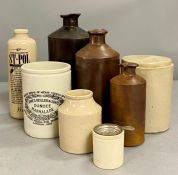 A selection of ceramic jars