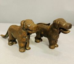 Two cast metal Nutcrackers in the form of a dog patent no. 273480 (2). Early 20th C.