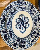Two Ridgeway blue and white platters