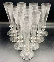A set of ten late 18th Century / 19th Century flutes