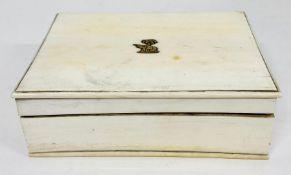 An Antique Ivory Cigarette Box AF ( Approx 16 cm x 11 cm x 5 cm)