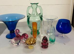 A Large collection of studio glass