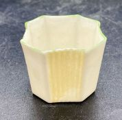 A small Belleek pot