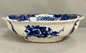 A blue and white vintage wash bowl (H14cm W44cm)