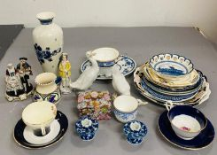 A Selection of various china, makers and styles.