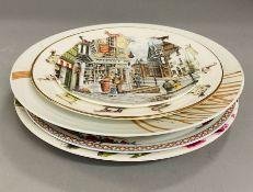 Five collectors plates