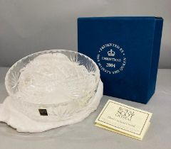 Royal Memorabilia: A Lead Crystal bowl given as a gift to a member of the Royal household staff by