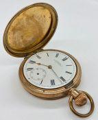 A WW. Co full hunter pocket watch
