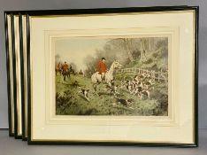 Four Hunting prints