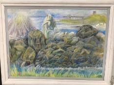 Margaret J. Robinson (1920–2016) English, ¨Impression of Alderney¨, signed and dated 1996, mixed