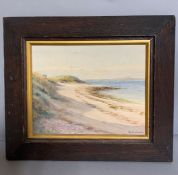 Robert Maclaurin (19th-20th century), 'View of sea shore' signed lower right, watercolour, framed (