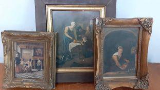 A group of 3 dutch prints. (3)