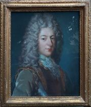 A French School, 'Portrait of a gentleman, head and shoulders, wearing cuirass, stock, lace cravat