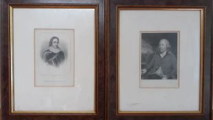 A pair of prints, framed and glazed (13x9 cm). (2)