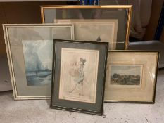 A selection of four english prints, Hartford bridge amongst them. (4)