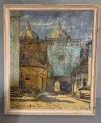 "Emilio Moncayo (1898-1970), ""South American street scene"" (Cuenca, Ecuador?), signed lower right,"