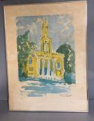 "A 20th century English school, ""Holy Trinity, Marylebone Rd"", signed: 'Francis Can', titled,"