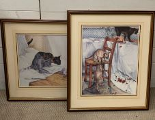 A Pair of Lesley Fotherby Prints