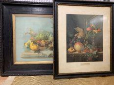 Two still life, framed and glazed, (53cm x 42cm) (71cm x 58cm).