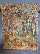 A 20th century English school, 'A shepard sleeping', oil on canvas, unframed, (57cm x 72cm)