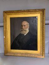A 19th century Italian school, 'Mr. Casano' (according label verso), oil on canvas, within an