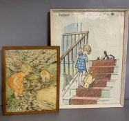 Two vintage childrens posters (60cm x 44cm)