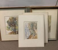 Vernon Wethered (1865–1952) British, an exceptional group of nine watercolours on their original