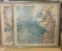 Maritime shipping routes and strategic passages (British Isles and West India Islands), framed and