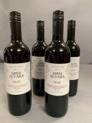 Four Bottles of 2015 Santo Alvara Melot