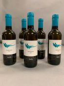 Five 375ml Rossj Bass 2014 Langhe wine.