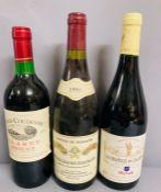 Three Bottles of Red Wine: 1991 Antoine de Peyrache Nuits Saint Georges, 2006 La Chapelle de