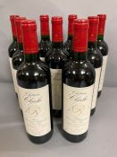 Nine Bottles of 2005 Chateau Clarke Baron Edmond de Rothschild Listrac Medoc