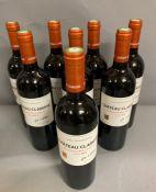 Eight Bottles of 2012 Chateau Clarisse Puisseguin Saint Emilion