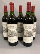 Five bottles of 2012 Chateau Montelena Cabernet Sauvignon