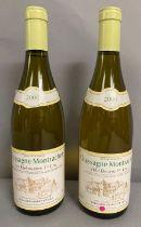 Two Bottles of 2000 Chassagne Montrachet Les Embrazees 1er Cru