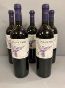 Five Bottles of 2015 Purple Angel wine by Montes