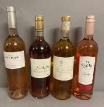 Four Bottles of assorted Rose wine