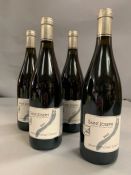 Four Bottles of 2011 Saint Jospeh Jean Michel Gerin wine