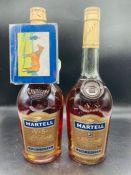 Two Bottles of Martell Cognac
