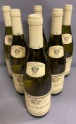 Six Bottles 2011 of Puligny Montrachet Louis Jadot